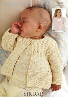 Sirdar - 1802 - Long and Short-Sleeved Cardigans (birth to 7 years)