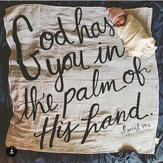 Tiny details captured on our Isaiah 46:16 swaddle!