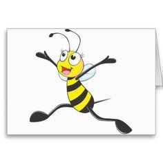 Joyful Female Bee Cards