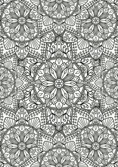Printable coloring pages, free adult coloring pages, mandala coloring pages Pattern Coloring Pages, Flower Coloring Pages, Mandala Coloring Pages, Colouring Pages, Coloring Books, Coloring Pages For Grown Ups, Free Adult Coloring Pages, Printable Coloring Pages, Mandalas Painting
