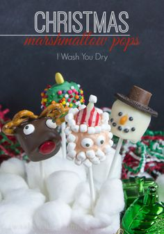 #Christmas #Marshmallow Pops that are a perfect treat for the #holiday season