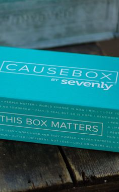 For a total reveal of EVERYTHING that's inside the first CAUSEBOX by Sevenly head over to http://blog.sevenly.org/ and learn about all 8 products you get when you sign up for a box yourself!
