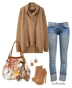 Casual Day by archimedes16 on Polyvore featuring polyvore fashion style Alexander Wang Current/Elliott Miss Selfridge NuNu Designs Jimmy Choo Marc by Marc Jacobs women's clothing women's fashion women female woman misses juniors aviator sunglasses ankle boots boyfriend jeans chunky sweaters jimmy choo current/elliott casual alexander wang