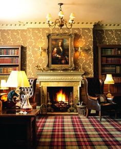 The Rufus Lounge at New Park Manor in England.  I want my library to look this cozy!