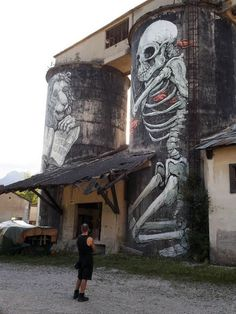 street art ~ Sospirolo, Italy