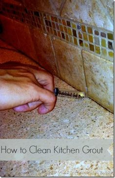 How to Clean Kitchen Counter Grout #cleaning #cleaningtips