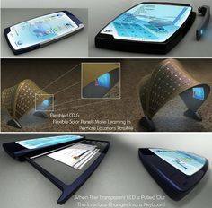 High-tech, future, phone, gadget, device, concept, futuristic, touch, carlos suarez, cellphone, technology, innovation, mobile phone, blue by FuturisticNews.com