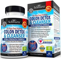 Colon Cleanser & Detox for Weight Loss. 15 Day Extra Strength Detox Cleanse with Probiotic for Constipation Relief. Pure Colon Detox Pills for Men & Women. Flush Toxins, Boost Energy. Safe & Effective #weightloss