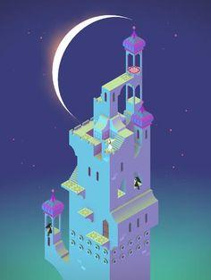 application ipad logique Monument Valley - nuit