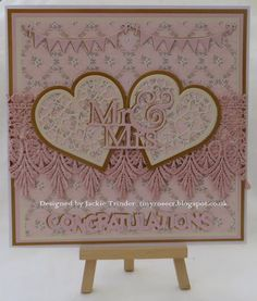 Tinyrose's Craft Room: Unicorn Challenge Blog - Anything Goes I made a wedding card with lace and dies