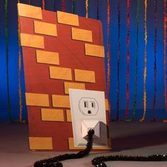 Include our Inventor's Laboratory Wall with Outlet in your VBS decorations. This freestanding prop shows a brick wall with a white outlet and is printed on one side. 80s Party Decorations, School Decorations, Party Props, Maker Fun Factory Vbs, Stumps Party, Candy Land Theme, Vbs Crafts, Fun Activities, Party Supplies