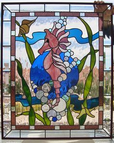 Stained glass on Pinterest | Ocean Scenes, Mermaids and Tudor Rose