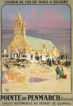 Vintage French Railways Saint Brieuc Tourism Poster Print A3//A4