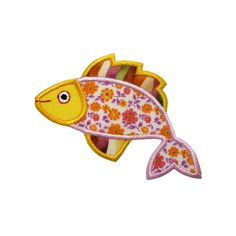 Funky Fish machine embroidery design by Briar Rose Embroidery.