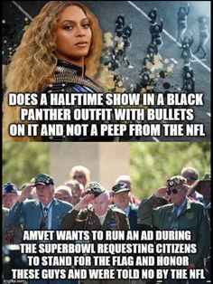 Go NFL! It's really very simple. One is an outfit. The other is a violation of the first amendment to the constitution. Kneeling for the anthem was NEVER about disrespecting the troops. Stop making shit up to justify Trump's agenda. Liberal Hypocrisy, Liberal Logic, Liberal Left, Out Of Touch, Political Views, Political Topics, Conservative Politics, Whats Wrong, Trump