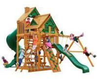 Gorilla Playsets Great Skye I Treehouse Residential Wood Playset at Lowe's. Gorilla Playsets Great Skye I Treehouse Swing Set with Natural Cedar is THE set to have in your backyard. The Deluxe Rope Ladder and Tandem Swing will Backyard Canopy, Garden Canopy, Canopy Outdoor, Backyard Playhouse, Canopy Bedroom, Diy Canopy, Canopy Tent, Hotel Canopy, Flats