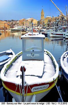 Sanary sur Mer - Le port sous la neige   - ( 83 - Var )