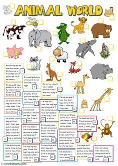 Animal world Language: English Grade/level: Pre-intermediate School subject: English as a Second Language (ESL) Main content: The animals Other contents: Animal Riddles, Animal Worksheets, Vocabulary Worksheets, Worksheets For Kids, English Vocabulary, The Animals, English Lessons For Kids, Kids English, Ingles Kids