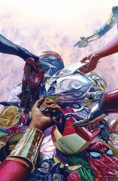#Avengers #Fan #Art. (All-New, All-Different Avengers#8 Cover) By: Alex Ross. (THE * 5 * STÅR * ÅWARD * OF: * AW YEAH, IT'S MAJOR ÅWESOMENESS!!!™)[THANK U 4 PINNING!!!<·><]<©>ÅÅÅ+(OB4E)  https://s-media-cache-ak0.pinimg.com/564x/24/3f/37/243f376f5a4e029395169f1c366a2cd9.jpg