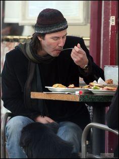 Keanu eating