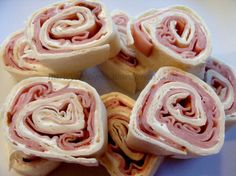 Ham and cheese ranch Roll ups