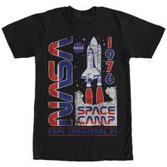 Free Shipping. Buy NASA Men s Space Camp 1976 T-Shirt at Walmart.com ef93093f163a
