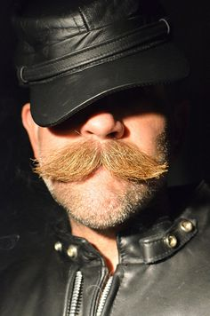 Letherman with thick moustache Beards And Mustaches, Moustaches, Mens Facial, Facial Hair, Mohawk For Men, Mustache Styles, Bald With Beard, Scruffy Men, Beard No Mustache