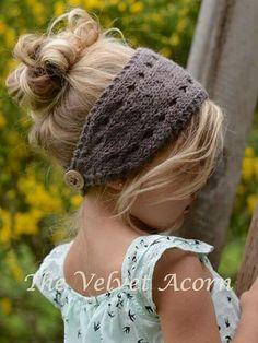 Crochet Patterns Yarn Knitting PATTERN-The Veronya warmer toddler child by Thevelvetacorn Baby Knitting Patterns, Baby Hats Knitting, Crochet Baby Hats, Knitting For Kids, Knitting Projects, Crochet Projects, Knitted Hats, Crochet Patterns, Free Knitting