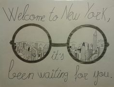 Welcome to new york drawing