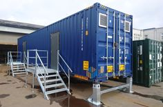 Switchgear rooms complete with floor apertures and stands for cabling, access steps and lifting beams for easier equipment installation. Container Conversions, Aperture, Beams, Flooring, Openness, Wood Flooring, Septum, Floor, Exposed Beams