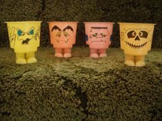 Fiendish Feet Yoghurts made by St Ivel.  I'd totally forgotten these till I saw this pin - awesome!