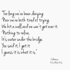 Lifehouse It Is What It Is Lyrics