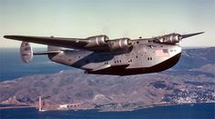 On April the first commercial flight across the Pacific was made as a Pan-American Boeing 314 Clipper seaplane arrived in Hong K. Amphibious Aircraft, Ww2 Aircraft, Military Aircraft, Flying Ship, Flying Boat, Float Plane, Civil Aviation, Aviation Art, Fighter Jets