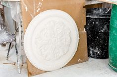 A ceiling rose that has been made in the Aagaard Hanley workshop