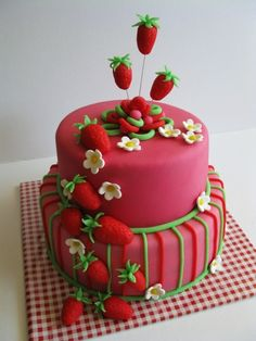 What a cheerfully sweet, wonderfully cute cake! Pretty Cakes, Cute Cakes, Beautiful Cakes, Amazing Cakes, Crazy Cakes, Fancy Cakes, Take The Cake, Love Cake, Unique Cakes