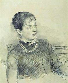 Portrait of a young wife, sitting on the couch Ilya Repin, Life Drawing, Drawing Sketches, Painting & Drawing, Drawing Designs, Daily Drawing, Portraits, Portrait Art, Figure Sketching