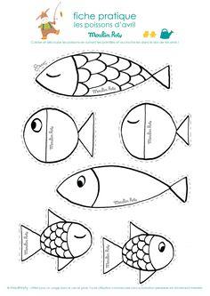 Aprilscherz Poissons d'avril - Sealife Ocean Crafts, Fish Crafts, Diy And Crafts, Arts And Crafts, Paper Crafts, Diy For Kids, Crafts For Kids, Fish Art, Summer Crafts