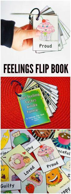 "A Feelings Flip Book by Haley Sez: ""This feeling tastes kinda funny. Feelings Activities, Infant Activities, Fun Activities, Autism Parenting, Parenting Hacks, Savant Syndrome, Feelings Chart, Special Needs Mom, Emotional Awareness"
