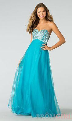 Blue prom dress promgirl