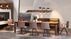 Table et chaises Loft - noyer voglauer - meubles en Belgique  - Selection Meubles, Amougies, mobilier