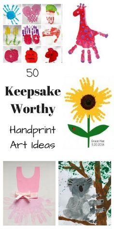 50 Keepsake Worthy Kids Handprint Art Ideas – How Wee Learn - Jahre Frisur Creative Activities, Craft Activities For Kids, Projects For Kids, Art Projects, Crafts For Kids, Summer Activities, Baby Crafts, Toddler Crafts, Toddler Art