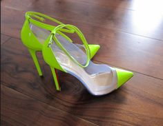Christian Louboutin Ss 2015 | Got them in neon yellow…Christian Louboutin