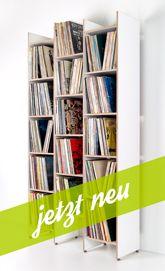 NEU! ORWE Multiplex-Regal in weiß für Schallplatten