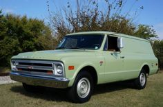 350/Three-on-the-Tree: 1968 Chevrolet C20 Panel Van    Bring a Trailer