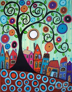 Small Town 1 Painting by Karla Gerard