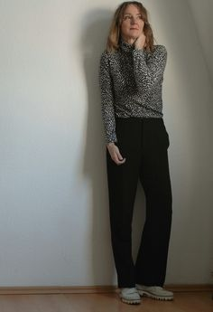 Wild thäng - wide pants and black and white animal print