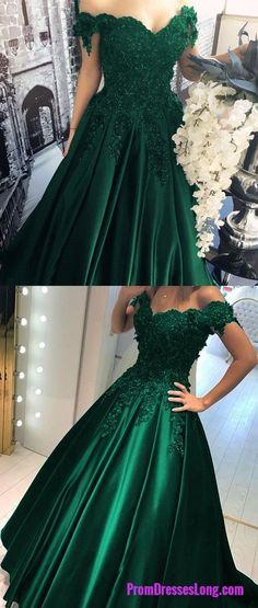Sexy Prom Gowns,Prom Dress,Long Hunter Green Evening Dress,Modest Formal Dress PD20191967