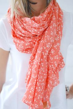 Summery scarves - this is cute!  BTW, I've learned I don't care for infinity scarves.  :-)