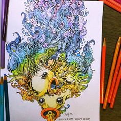 Doodle Invasion – A cute and complex coloring book for grown-ups (image)