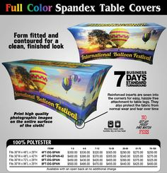 Full Color Spandex Table Covers